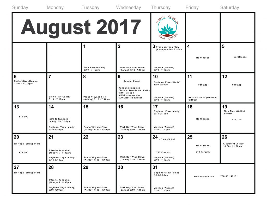 August Calendar copy